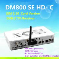 2pcs/lot atacado wifi dm800se-c  dvb-c sintonizador de cabo dm800-c versao, cabo hd receptor