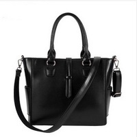 Spring summer 2014 new fashion Genuine leather women handbags  shoulder bag obliquely across the satchel 3colors available