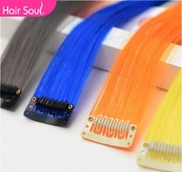 10pcs/lot  Harajuku gradient color streaked wig piece straight hair wig hair piece
