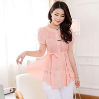 2014 summer new Korean fashion elegant chiffon shirt cardigan chiffon chiffon shirt blouse loose big yards