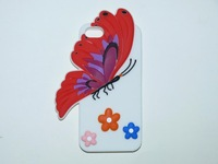 New Hot selling Butterfly design silicone case for iphone 5 5s  10pcs/lot mix color
