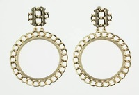 2014 New Fashion High Quality Gold Alloy Chain Round Shape Drop Earrings For Women