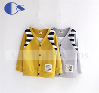 New Arrival Wholesale Children Boutique Clothing Boys 2014 Autumn Children Outwear Autumn V-Neck Single Breasted Jacket For Kids