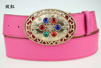 The new 2014 free shipping! Fashion wide belt studded with precious stones Rhinestone belts for women's