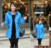 New Fashion Elegant Korean Winter Warm Jackets for Women Long Sleeve Zipper Decoration Lady Quilted Coats Drop Ship1109