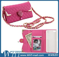 for iPhone 5C Case Diamond Chain Handbag Case for iPhone 5C with Wallet Card Slot Wholesale