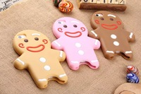 Whloesale   HOT 3D Silicon Gingerbread man  Case For iPhone 5 with retail packages ! Free Shipping
