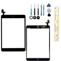 100% Guarantee Test Complete For Ipad Mini Touch Digitizer Screen + IC Flex Chip + Home Button Flex Black