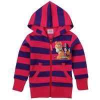 18m/6y Nova Girls Cute Girls Winter Clothes Cartoon Tiger And Little Girl Striped Zipper Up Girls Jacket Hoodies Free Shipping