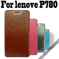 Luxury for lenovo P780 case, PU leather case cover stand for lenovo p780, flip case free shipping
