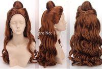 Princess Beauty and the Beast - Bell Princess Cosplay Wig Kanekalon Fiber no lace Hair full Wigs