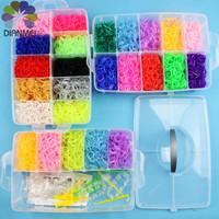 2014 Hot Sale 1pcs New Fashion Large 3 Layers 12000pcs Rubber Bands Loom Bands DIY Bracelets Making Kit Box