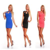 Free shipping 20pcs/lot  2014 New Hot Women's Sexy  dress party ,women hole dress  3colors,  mini sexy club dress  SE34