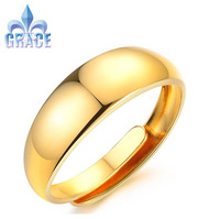 Grace Jewelry COPPER Alloy TOP quality 18K Gold Plated Ring Rings Opening Adjustable Fashion Acessories For man women GR013