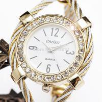 2014 new fashion women bracelet classic full steel strap rhinestone luxury female wrist quartz watch