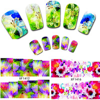 30PCS Flower Rose Water Transfer Stickers Nail Art Decals Nail Wraps DIY Charm Temporary Tattoos Salon Nail Tools XF1392-1421