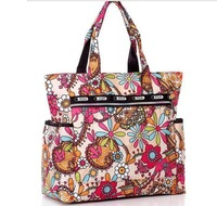 Fashion  women les sport sac  sun flower handbag,women's 210D nylon shopping bag,women's printing canvas bag,bag for mami D19