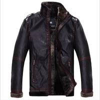 Man Winter Faux Leather Jackets Men Business Warm Jaqueta de couro Masculina 2014 New Men's Coats XXXL 4XL