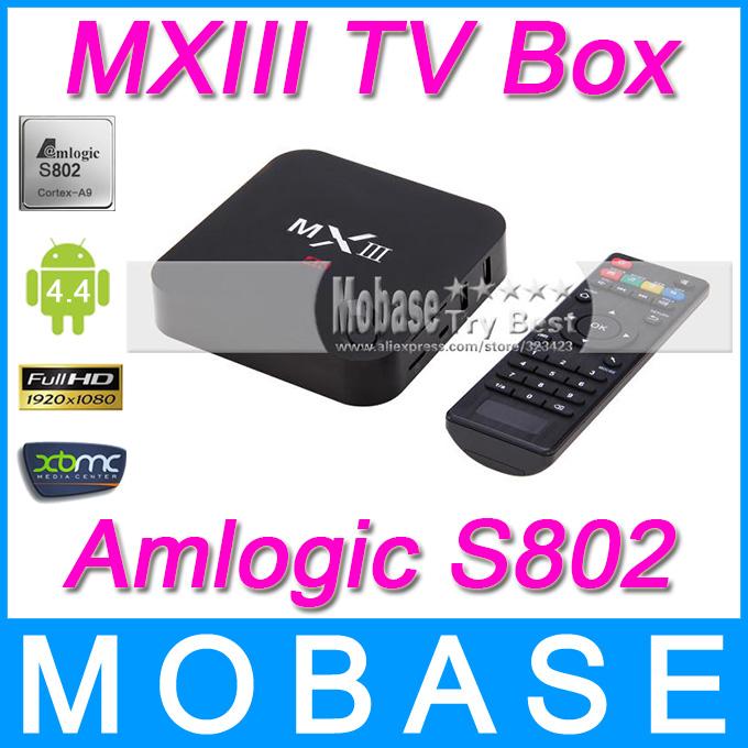 все цены на Телеприставка MOBASE MXIII Amlogic S802 Android /iptv 2,0 4.4.2 Octa GPU 4K 1G /8G XBMC онлайн