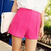 2014 New Fashion High-Waist Shorts Women's Candy Colors Leisure Shorts Summer Korean plus size Short Pants