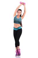 Yomsung 2014 New  Yoga Sport Slim Casual V Waist Low Waist  Leggings Strenched Capri Pants Fitness Pants& Tank Set