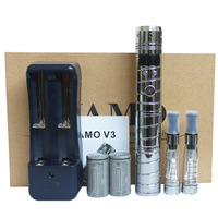 High Quality VAMO V3 Kit Electronic Cigarette Chrome Variable Voltage V3 Mod Set E Cigarette with 18350 battery and CE4 Atomizer