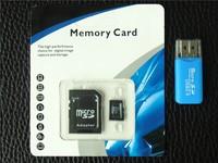 100% Original SD card 16G 32GB 64G Micro memory SD card forFree TF Card Adapter + Gift Card Reader + Free shipping