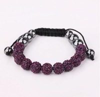 Free Shipping one direction  Shamballa Bracelets & Bangles Pave 10mm Crystal AB Clay Ball Mix Colour Options for women