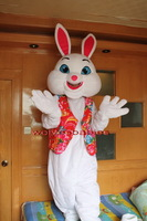 2014 Hot Sale Christmas Easter Bunny Rabbit Cartoon Mascot Costume Animal Fancy Dress Outfit mascot costume