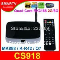 CS918 ( MK888 / K-R42 / Q7 ) Quad Core RK3188  Android TV Box 2G RAM 8G ROM Bluetooth Remote Control Wifi XMBC AV-out