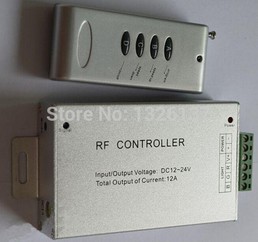 led rgb rf controller DC12~24V 12A wireless led rf controller rgb 4keys Aluminum version for magic dream color led strip light(China (Mainland))