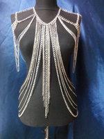 Silver Body Chain, Body chain, Shoulder chain, Necklace