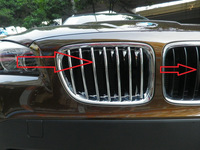 Free shipping! New Chrome Front Grille Cover Trim For  X1 E84 2010 2011 2012 2013 car styling
