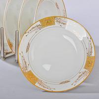 Plate bone china ceramic plate western dish 8 inches deep dish