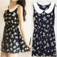 Hot Sale New Designer Dresses 2014 Women High Quality European Fashion Leisure Chiffon Dress Women Floral Printed Clothing