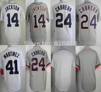 baseball jersey #24 Miguel Cabrera #14Austin Jackson #41Martinez Jersey,cheap blank jersey wholesale in china and Free shipping