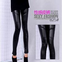 Free Shipping 2014 New Arrival Pattern Patchwork Matt Imitation Leather Women's Leggings Pants
