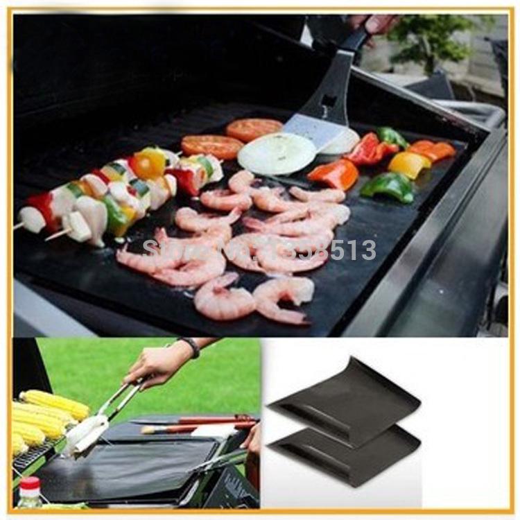2014 Newest 2Pcs/set,33*40cm BBQ Grill Mats Ptfe NON-Stick Surface Hot Plate Mat Free Shipping(China (Mainland))