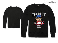 New fashion Cotton print hiphop sports clothes men's Trukfit long sleeve T-shirt male casual casual tee shirt for spring fall