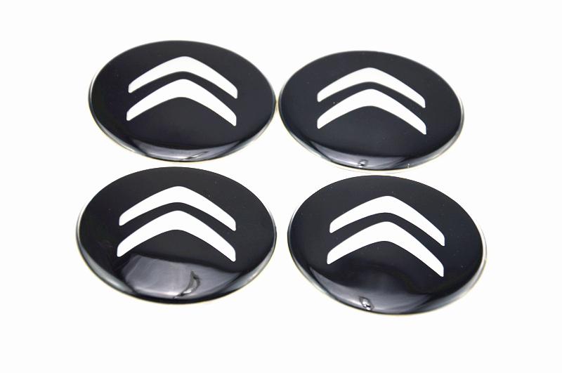 Livraison gratuite 4x accessoires de voiture ornement de roue de centre hub cap citroënmodule stickersductilité 65mm emblèmes. décorer
