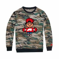 Trukfit tee shirts Military Army long sleeve camo clothes hiphop Men's fashion Leisure tees & tops Cheap sportswears size S-XXL