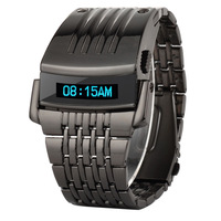 Fashion Metal Armed LED 3 ATM Water Resistant Digital Wrist Watch