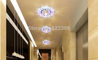 Modern LED Ceiling Spotlights 3W Crystal Balcony Hallway Living Room Lamp Abajur Luminaria Light Fixtures AC200V 220V 230V 240V