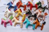 lady fashion Key Chain horse shape Handbag Rodeo Ring Finder key chain 12 COLORS