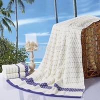 High quality~New style 100% cotton 3 Piece Bath Towel Set , Bath Towel 1pcs, Face towel 2pcs ,550g