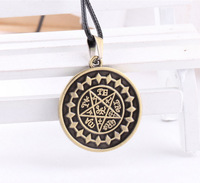 Free Shipping Anime Black Butler Necklace Cosplay metal Pendant bronze star