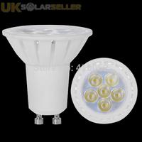 10pcs/lot 6 SMD3030 LED Bulbs Day White GU10 6W Spot Light Lamp