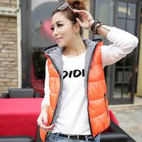 2014 new winter women jacket fashion Female jacket vest. Hooded vest leisure Down cotton coats 6 color Pule Size L-XXXL