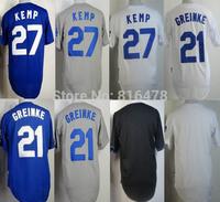 baseball jersey #27 Matt Kemp #21 Zack Greinke Jersey ,cheap blank jersey wholesale in china and Free shipping