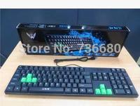 Original Brand 105 keys USB PS/2  Wired Professional Gaming Keyboard Key Board PC Computer Game keyboard